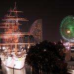 Vista nocturna de Minato Mirai, en Yokohama