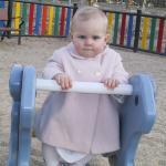 Gabriela con 11 meses en el parque