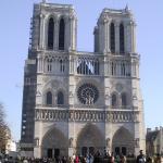 Delante de la catedral de Notre-Dame
