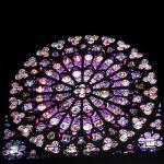 Impresionante rosetón de la catedral de Notre-Dame