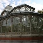 Detalle del ala norte del Palacio de Cristal de El Retiro